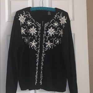 Holiday black cardigan